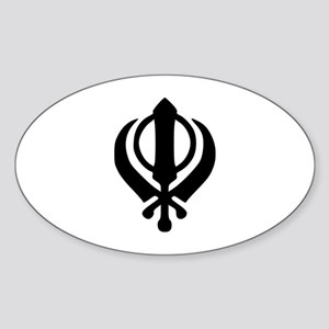 Sikh khanda Sticker (Oval)